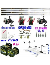 kit pesca carpfishing canna...