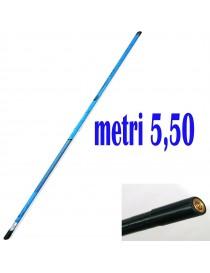 Manico Guadino Mix Carbonio M.5,50 Mt. Metri Palo